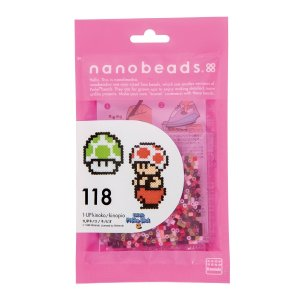ナノビーズ 80-63041 118 1UPキノコ/キノピオ (カワダ アイロンビーズ)|paprika8