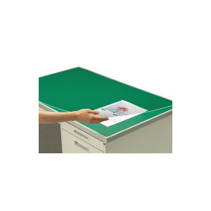 コクヨ (マ-106) デスクマット硬質W アクリル製 グリーン 透明 下敷き付 1000×600デ...