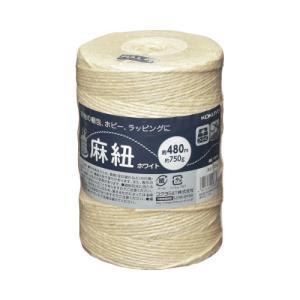 コクヨ (ホヒ-35W) 麻ひも(ホワイト・ホビー向け) (ホワイト)チーズ巻き麻紐(あさひも) 4...