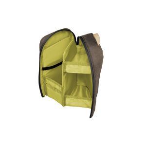 コクヨ(F-VBF210S)ツールペンケース<ネオクリッツシェルフ> ブラウン×オリーブイエロー