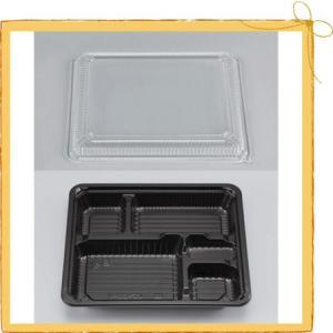 使い捨てお弁当容器【新CZ-22-1BS黒セット】 ◆色/柄:黒 ◆サイズ:蓋223x186x11m...