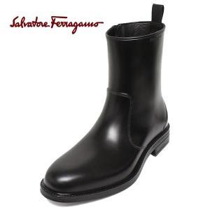フェラガモ 靴 メンズ ブーツ FERRAGAMO サイドジップ レインシューズ BALTIMORA paradis