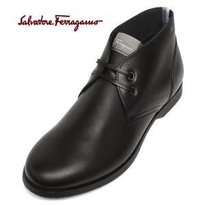 フェラガモ 靴 メンズ チャッカブーツ FERRAGAMO ショートブーツ フェラガモワールド METRO2 paradis