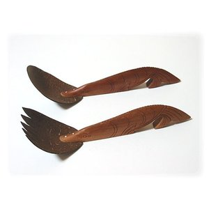 ジェンガラ ケラミック食器/JENGGALA/ フィッシュ サービング スプーン C22WT0039-C22WT0044 paradox-crafts
