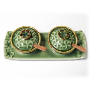 ジェンガラ ケラミック食器/JENGGALA/ フランジパニ 調味料入れ (調味料用スプーン付き)  R-1526-147-CL|paradox-crafts|03