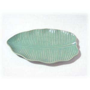 ジェンガラ ケラミック食器/JENGGALA/ リーフ プレート R-364-2081|paradox-crafts