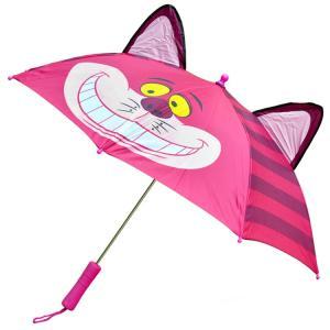 子ども傘 傘 キッズ 子供用 55cm 耳付き ディズニー 不思議の国のアリス チェシャ猫 小学校 ...