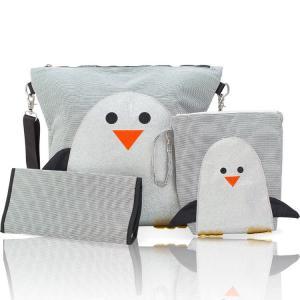 マザーズバッグ ペンギン ウェットバッグ ポーチセット nikiani ニキアニ リュック 撥水 斜めがけショルダー|paranino-formalstyle