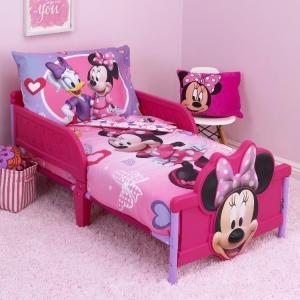 ディズニー ミニーマウス 子供 寝具 4点 セット トドラーベッディング CrownCrafts|paranino-formalstyle