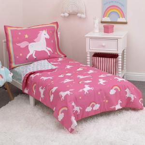 ユニコーン 子供 寝具 4点 セット トドラーベッディング CrownCrafts Carters|paranino-formalstyle