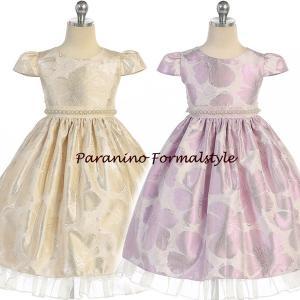 在庫一掃セール/ 子供 ドレス フォーマル 女の子 110-140cm アイボリー パープル ライリー|paranino-formalstyle