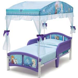 デルタ ディズニー アナと雪の女王 キャノピー付き 子供用 ベッド 女の子 2歳から