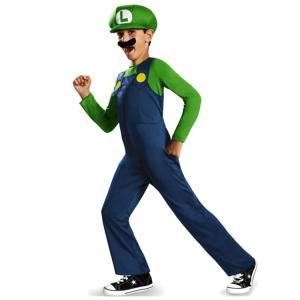 スーパーマリオ ブラザーズ ルイージ ハロウィン コスチューム 男の子 95-125cm 子供 衣装...