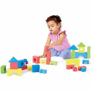 カラー ソフ・gブロック 80個セット 3歳から  お風呂 バストイ おもちゃ 知育玩具 子ども 積木 幾何学形 edushape|paranino-formalstyle