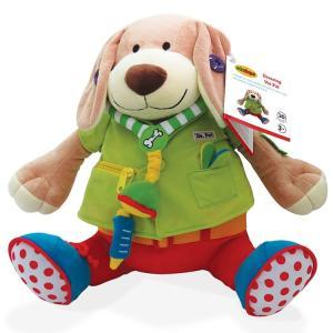 着替え練習 ぬいぐるみ ドクター プーチ 人形 犬 3歳から 知育玩具 アクティビティドール edushape|paranino-formalstyle