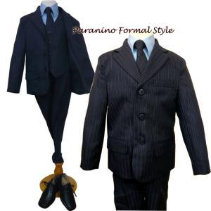 フォーマル 男の子 子供スーツ 男子 スーツ 5点セット ネイビー 207-navy 110.120.130.140.150cm paranino-formalstyle