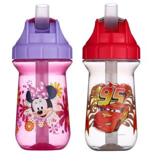 ディズニー ストロー 水筒 子ども ボトル 280ml 食洗機対応 ソフィア ドック カーズ ミニーマウス ミッキーマウス (DM便不可)