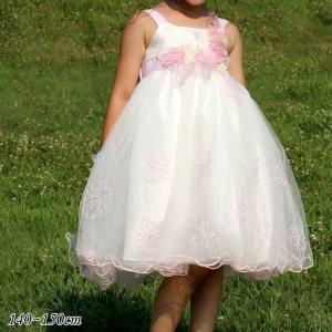 半額クーポン対象/ 子供 ドレス フォーマル 女の子 140-150cm ピンク キャサリン|paranino-formalstyle