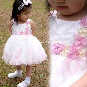 在庫一掃セール/ ベビードレス フォーマル 女の子 70-90cm ピンク キャサリン|paranino-formalstyle