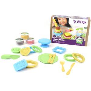 こむぎねんど 道具 ケーキメーカー 粘土 お店屋さん セット Green toys|paranino-formalstyle