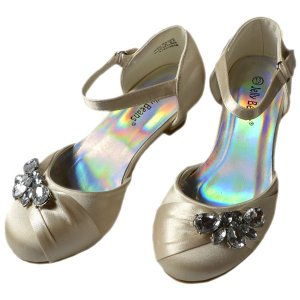 サマーセール/ フォーマル 靴 女の子 18-23cm シャンパン シューズ|paranino-formalstyle