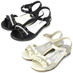 Jelly Beans LALA フォーマル 靴 女の子 ブラック/ベージュ|paranino-formalstyle