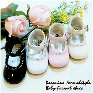 フォーマル靴 女の子 10-10.5cm ホワイト ベーシュ ピンク ブラック シューズ|paranino-formalstyle