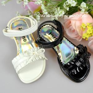 サマーセール/ 子供 フォーマル 靴 キッズ 女の子 13.5-17.5cm ホワイト ブラック サンダル シューズ|paranino-formalstyle