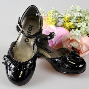 在庫一掃セール/ フォーマル靴 女の子 14-15cm ブラック シューズ|paranino-formalstyle