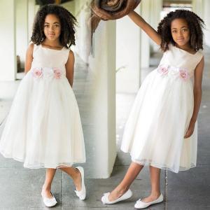 クリアランス売りつくし/ 子供 ドレス フォーマル 女の子 100-160cm ピンク ニーナ|paranino-formalstyle