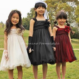 子供 ドレス フォーマル 女の子 100-160cm シャンパン レッド ブラック アイリス|paranino-formalstyle