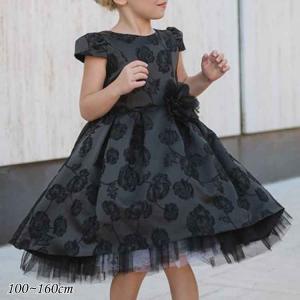 クリアランス売りつくし/ 子供ドレス 女の子 ブラック 100-160cm フォーマル アドリアーノ 入園式 卒園式 入学式 卒業式 結婚式|paranino-formalstyle