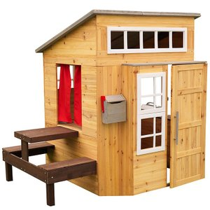 Online ONLY(海外取寄)/ プレイハウス 木製 大きな家 モダン アウトドア プレイハウス 大型遊具 庭 屋外 室外 KidKraft  /配送区分C|paranino-formalstyle