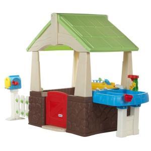 Online ONLY(海外取寄)/ リトルタイクス デラックス ホーム ガーデン プレイハウス 遊具 子ども 屋外 630170M /配送区分B|paranino-formalstyle