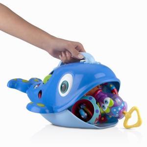 ヌービー シースクーパー クジラ お風呂 おもちゃ 収納 バストイ 収納カゴ nuby|paranino-formalstyle
