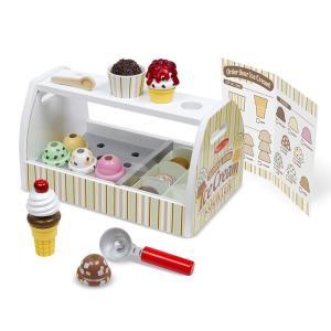 アイスクリーム屋さん おもちゃ カウンター 木製玩具 ごっこ遊び ままごと お店屋さん アイスクリーム|paranino-formalstyle
