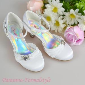 在庫一掃セール/ フォーマル靴 女の子 17.5-18cm ホワイト シューズ|paranino-formalstyle