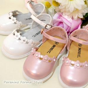 在庫一掃セール/ ベビーシューズ 女の子用 ベビー靴 マジックテープ 42-307 フォーマル ベビーサンダル 結婚式 入園式 (DM便不可)|paranino-formalstyle