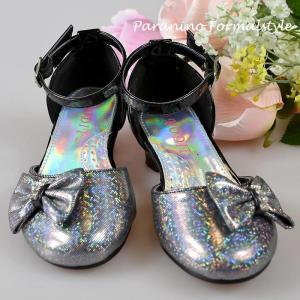 在庫一掃セール/ フォーマル靴 女の子 17.5cm ブラック シューズ|paranino-formalstyle