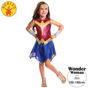 ワンダーウーマン コスチューム 105-150cm 女の子 かわいい ハロウィン 仮装 子供 衣装 ...