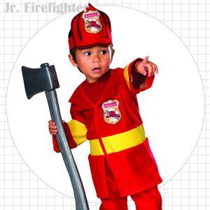消防士 ファイヤーマン コスチューム 60-105cm 男の子 ルービーズ ハロウィン 仮装 子供 ...