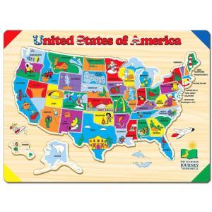 知育玩具 ラーニング ジャーニー リフトラーン パズル アメリカ 地図 州 3歳から パズル ゲーム|paranino-formalstyle