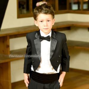 タキシード フォーマル 男の子 60-130cm ブラック 子供タキシード|paranino-formalstyle
