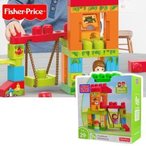 フィッシャープライス メガブロック 1才からのブロック遊び 知育玩具 ブランコゆらゆら  楽しいツリーハウス|paranino-formalstyle