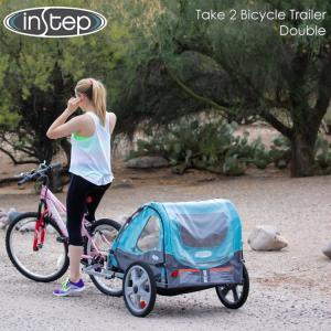 InStep インステップ テイク2 バイクトレーラー シングル ダブル チャイルドトレーラー 自転車トレーラー 2人用 けん引|paranino