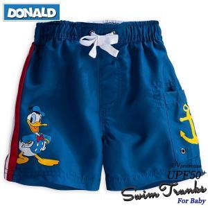 ディズニーよりとっても可愛いドナルドダックの ベビー用水着(トランクス)です。  (特徴) ・ウエス...