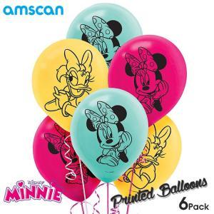 ディズニー ミニーマウス 風船 6個セット バルーン パーティ 装飾 飾り アムスキャン