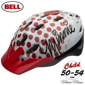 子供用ヘルメット ディズニー ミニーマウス 自転車 防災用 キッズ ジュニア プロテクター ベル BELLの画像