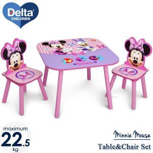 テーブル チェア セット ディズニー ミニーマウス 2人用 子供用家具 子供部屋 Delta デルタ disney_yの写真