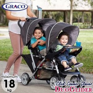 Online ONLY(海外取寄)/ グレコ デュオグライダー ダブル ストローラー クリックコネクト グレイシャー 新生児から 縦型 graco2人乗り ベビーカー